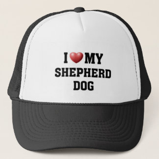 Liebe I mein Schäfer-Hund Truckerkappe