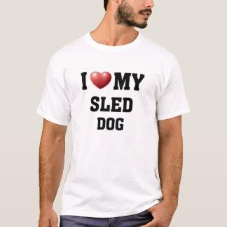 Liebe I mein Schlitten-Hund T-Shirt