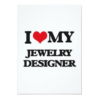 Liebe I mein Schmuck-Designer Ankündigungskarte