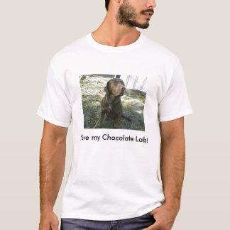 Liebe I mein Schokoladen-Labrador! T-Shirt