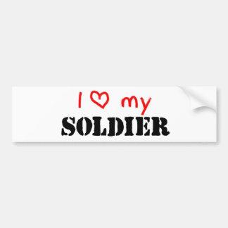 Liebe I mein Soldat Autoaufkleber