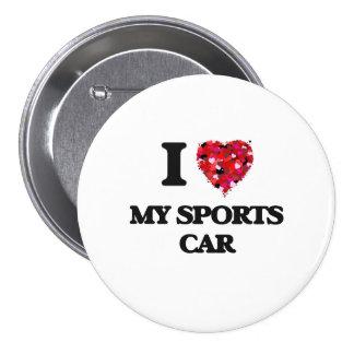 Liebe I mein Sport-Auto Runder Button 7,6 Cm
