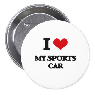 Liebe I mein Sport-Auto Anstecknadel