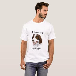 Liebe I mein Springer mit Hand gezeichnetem T-Shirt