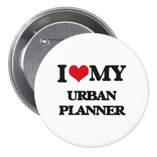 Liebe I mein städtischer Planer Anstecknadelbutton
