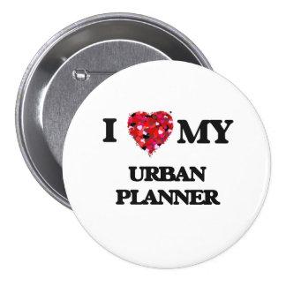 Liebe I mein städtischer Planer Runder Button 7,6 Cm