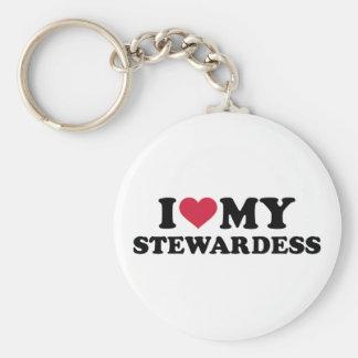 Liebe I mein Stewardess Schlüsselanhänger