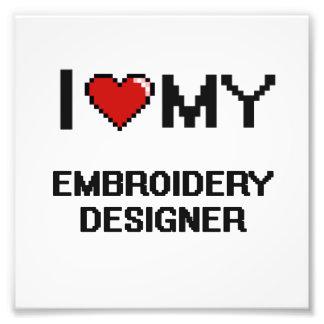 Liebe I mein Stickerei-Designer Kunstfoto