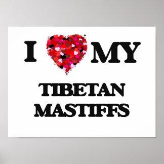 Liebe I mein tibetanischer Mastiff Poster