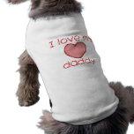 Liebe I mein Vati Ärmelfreies Hunde-Shirt