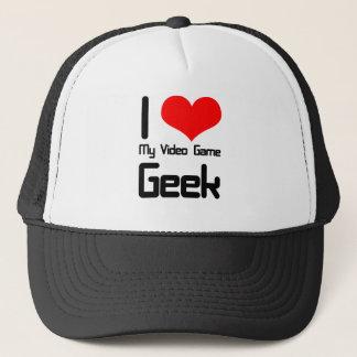 Liebe I mein Videospiel Geek Truckerkappe