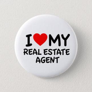 Liebe I mein wirklicher Anwesen-Agent Runder Button 5,7 Cm