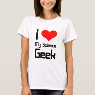 Liebe I mein Wissenschaft Geek T-Shirt