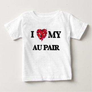 Liebe I meine Au-Paare Baby T-shirt