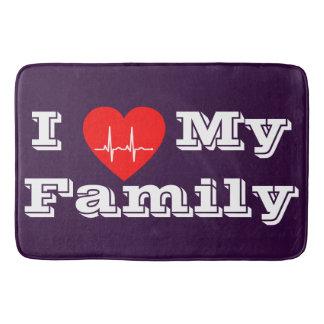 Liebe I meine Badezimmermatte Herz der Familie Badematte