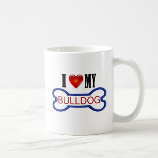 Liebe I meine Bulldogge Kaffeetasse