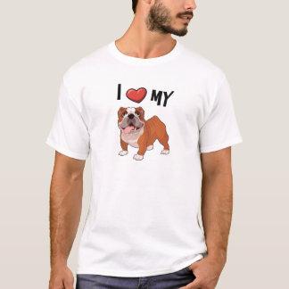 Liebe I meine Bulldogge T-Shirt