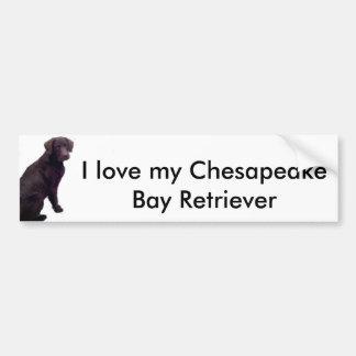 Liebe I meine Chesapeake-Bucht… Autoaufkleber