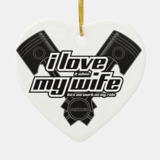 Liebe I meine Ehefrau - FAHRT Keramik Ornament
