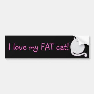 Liebe I meine fette Katze! Autoaufkleber