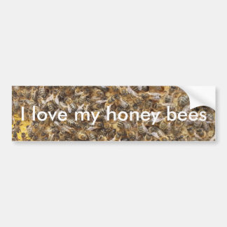 Liebe I meine Honigbienen Autoaufkleber