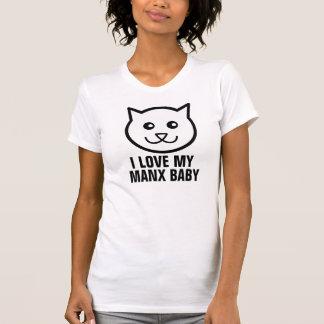 Liebe I meine Manx Katzen-T - Shirts