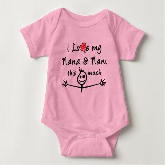 Liebe I meine Nana u. Nani (Großmutter u. Baby Strampler