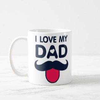 Liebe I meine niedliche Schnurrbartikone des Vatis Kaffeetasse