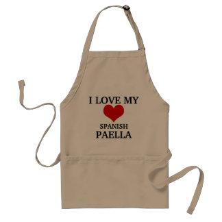 Liebe I meine spanische Paella Schürze