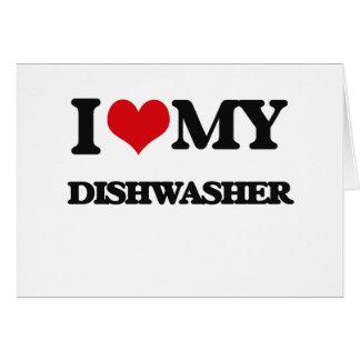 Liebe I meine Spülmaschine Grußkarte