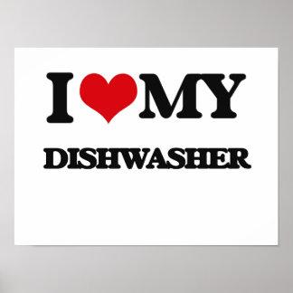 Liebe I meine Spülmaschine Poster