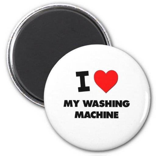 Liebe I meine Waschmaschine Kühlschrankmagnet