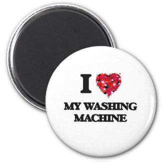 Liebe I meine Waschmaschine Runder Magnet 5,1 Cm