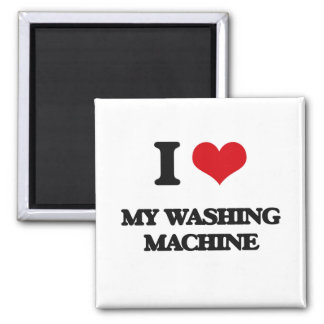 Liebe I meine Waschmaschine Quadratischer Magnet