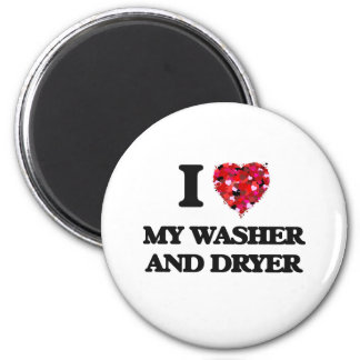 Liebe I meine Waschmaschine und Trockner Runder Magnet 5,1 Cm