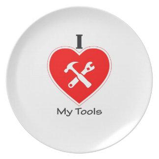 Liebe I meine Werkzeuge Party Teller