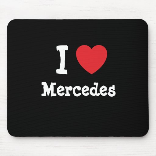 Liebe I Mercedes-Herz T - Shirt Mauspads