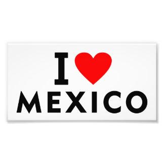 Liebe I Mexiko-Land wie Herzreisetourismus Fotodruck
