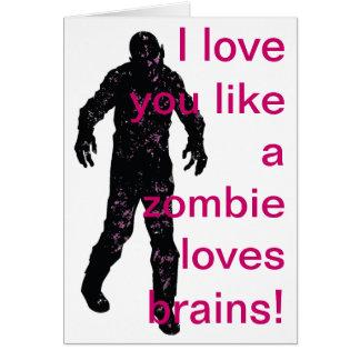 Liebe I mögen Sie Liebegehirne eines Zombies! Karte