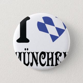 Liebe I München Ikone Runder Button 5,1 Cm