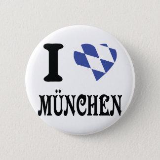 Liebe I München Ikone Runder Button 5,7 Cm