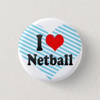 Liebe I Netball Runder Button 2,5 Cm