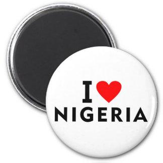 Liebe I Nigeria-Land wie Herzreisetourismus Runder Magnet 5,1 Cm