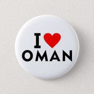 Liebe I Oman-Land wie Herzreisetourismus Runder Button 5,1 Cm