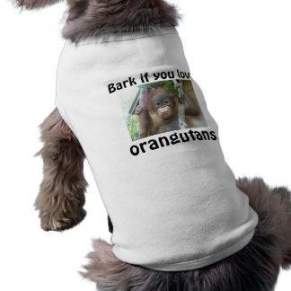 Liebe I Orang-Utans Hundekleidung T-Shirt