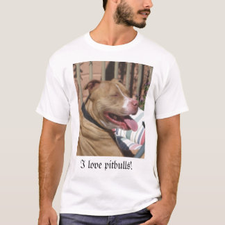Liebe I pitbulls! T-Shirt