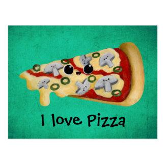 Liebe I Pizza Postkarte