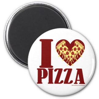 Liebe I Pizza Runder Magnet 5,7 Cm