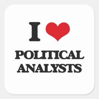 Liebe I politische Analytiker Quadratischer Aufkleber