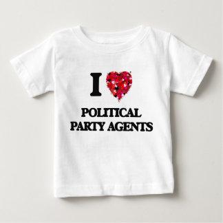 Liebe I politische Party-Agenten T Shirts